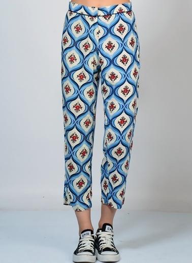 Motel Rocks Desenli Pantolon Mavi